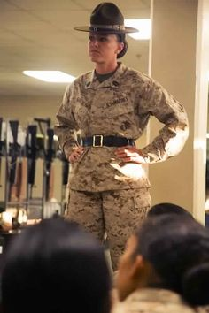 Your worst nightmare if she's mad or your best friend when the other DI's are on you. ..your senior drill instructor ladies