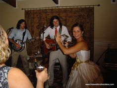 Seriously?? I want the Avetts to play MY wedding!  (photo is from 2006, before they got huge.  Songs included Swept Away, Offering, Please Pardon Yourself and At The Beach)