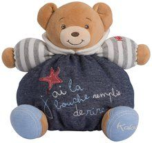 Kaloo Denim Plush Toy, Happy Chubby Bear, Medium. Available at OurPamperedHome.com
