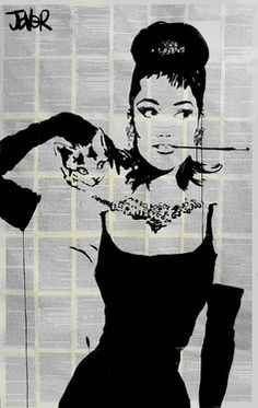 "Saatchi Online Artist Loui Jover; Drawing, ""tiffany's"" #art"