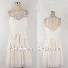 Short Prom DressShort Bridesmaid Dress Short by chiffondresses, $78.00