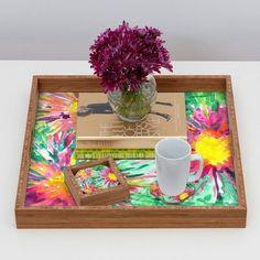 Brayden Studio Joy Laforme Floral Confetti Coaster
