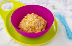 Chicken and mango mash. Delicious and nutritious for your weaning baby.