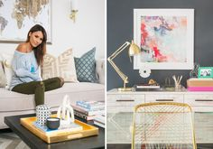 Desi Perkins home office update with Laurel & Wold | Photo by Dustin Walker
