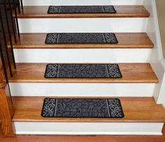 Dean Washable Non-Skid Carpet Stair Treads - Garden Path Black (13) Dean Flooring Company,http://www.amazon.com/dp/B005O1B9V4/ref=cm_sw_r_pi_dp_oWCrtb11H8QWRZJZ