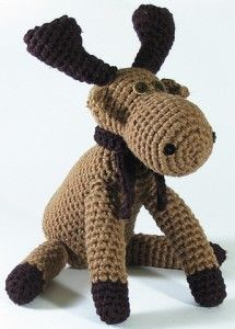 Crochet moose. I made one of these for Brett for Christmas last year. Love how it turned out!