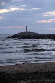 The Baltic Sea. In Salacgriva, Latvia.