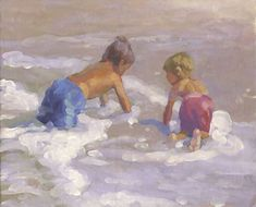 TITLE: PLAYED OUT SIZE: 8 X 10 two little boys tired out after playing in the surf. Painting will be carefully wrapped and shipped via the post office, priority mail in the US only. Outside the US shipping will be first class mail. Painting For Kids, Art For Kids, Art Children, Acrylic Painting Canvas, Watercolor Paintings, Last Minute Diy Costumes, Beach Artwork, Art Original, Surf Art