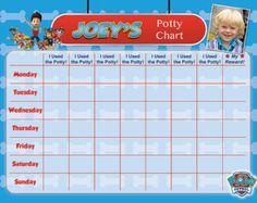 Paw Patrol Potty Chart Potty Training Chart Boy Paw