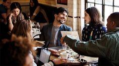 Friends talking in a café