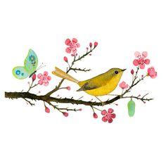 just gorgeous, illustration of a little bird
