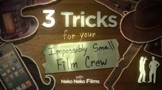 3 Tricks For Your Impossibly Small Film Crew by Vimeo Video School. Attention Filmmakers! If you are sitting around, twiddling your thumbs, waiting for that perfect budget to fund your movie, look no further! Seriously, stop looking. It's time to quit procrastinating and use that crafty mind of yours to make your movie. As long as you have a camera, a friend, and an idea, you're ready to get started.