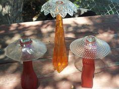 Glass flowers :: Pam's clipboard on Hometalk :: Hometalk Garden Totems, Glass Garden Art, Glass Art, Outdoor Crafts, Outdoor Stuff, Outdoor Fun, Outdoor Ideas, Glass Plate Flowers, Garden Crafts