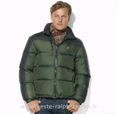 f7f30228f48 doudoune Ralph Lauren hommes star 2013 beau pony coton casual vert noir Doudoune  Sans Manche Hv Polo