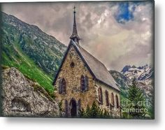 Mountain Chapel Metal Print by Hanny Heim, Snowbird Photography