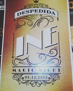 Magic night #despedidadesoltera #chausolteria #cartel #deco #ambientacion #tribadiseño #buhoambientaciones