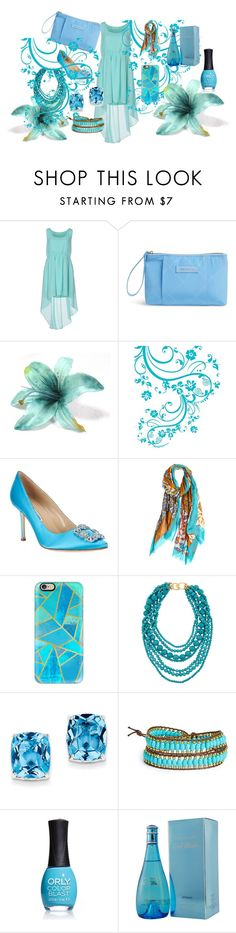 """Blue Wind"" by fire-flower7001 ❤ liked on Polyvore featuring Duck Farm, Vera Bradley, Calypso Private Label, Casetify, Kenneth Jay Lane, Kevin Jewelers, Panacea, ORLY and Davidoff"