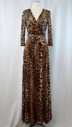 The Leopard Faux Maxi dress Order at Shannasthreads.com