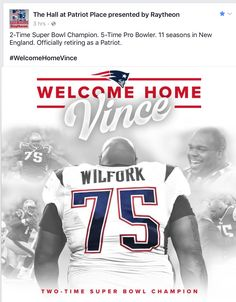 fe3fb119f0f Officially retired as a New England Patriot. Welcome home