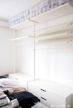 Laundry Closet, Laundry Room, Ottoman Bed, Light Grey Walls, Wardrobe Storage, Dream Closets, Closet Organization, Decoration, Small Spaces
