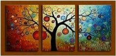 Painted Abstract Painting Decoration Stretched ..  love this persons paintings!