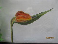 Silk handmade silkpainting Seidenbild Blume auf Seide gemalt........   Ursula Pauly