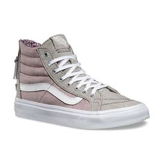 2e20d5ed0f376a Floral Chambray SK8-Hi Slim Zip White Casual Shoes
