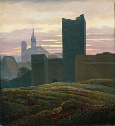 The Imperial Castle in Eger - Carl Gustav Carus 1824