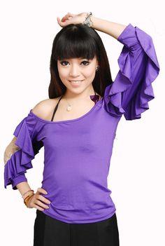 SGT15PU (M-XL) New Women Ballroom Smooth Latin Tango Salsa Dance Blouse Top #StarDance #DanceBlouse