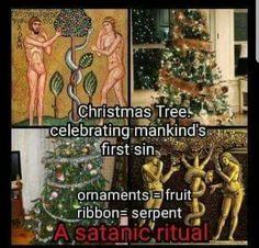 Christmas is Pagan Christmas Pagan Holiday, Christmas Tree, Holiday Decor, Satan, Ornaments, Fruit, Paganism, Holidays, Teal Christmas Tree