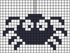 Spider Halloween perler bead pattern