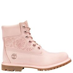 4b9fa1ceb71 Timberland Women s 6-Inch Premium Waterproof Boots Pink Embossed Nubuck   yogapants Tall Leather Boots