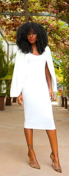 White Blazer + Little White Dress -   Style Pantry