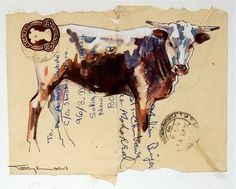 Envelope Art - South African artist Terry Kobus © www.spinman.co.za