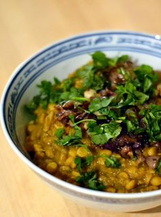 Chana Dal Tadka - yellow lentils with onions, garlic, chilies, and spices | New York Food Journal
