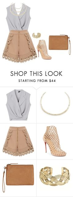 """Sem título #2915"" by mprocedi ❤ liked on Polyvore featuring Alexis Bittar, self-portrait, Christian Louboutin, Status Anxiety and Charles Albert"