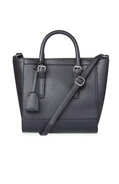 Black PU Formal Mini Tote Bag