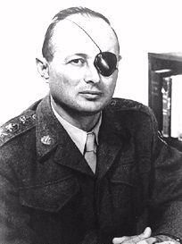 Moshe Dayan was an Israeli military leader and politician. He was the second child born on the first kibbutz. As the fourth Chief of Staff of the Israel Defense Forces (1953–58), he became a fighting symbol to the world of the new state of Israel. He went on to become Defense Minister and later Foreign Minister of Israel.