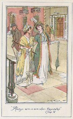 In Bath, Catherine makes a new best friend in Isabella Thorpe. Northanger abbey, Jane Austen