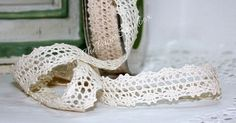 Ivory Crochet Lace Ribbon, Ribbon by the yard, Cotton Lace Ribbon,  Weddings, Gift Wrap, Crafts, Baby,  Lace Trim, Sewing, Party Supplies