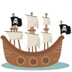 Pirate Ship SVG scrapbook cut file cute clipart clip art files for silhouette cricut pazzles free svgs free svg cuts cute cut files