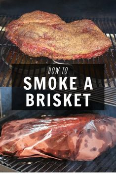 Want to learn how to smoke a brisket? It doesn't have to be intimidating if you have the knowledge. Let's dive in and I'll give you step by step instructions on how to smoke a brisket and make it perfect every time! Beef Brisket Recipes, Bbq Brisket, Smoked Beef Brisket, Traeger Recipes, Smoked Meat Recipes, Grilling Recipes, Steak Recipes, Rub Recipes, Ribs