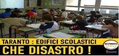 M5S - «La disastrosa situazione delle scuole di Taranto»
