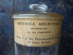 Original Antique Absinthe Wormwood Pharmaceutical