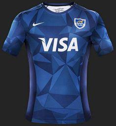 Show de Camisas  Nike apresenta camisa reserva da seleção de rugby da  Argentina Camisetas De fa605f34036a3