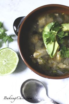 Lime Avocado Chicken Soup