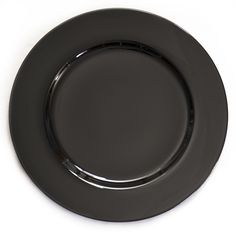 13 in. Black Charger Plates 4/pack