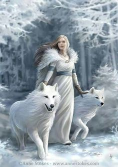 Girl with wolves. Inspired by Starks on GOT