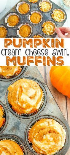 Pumpkin Cream Cheese Swirl Muffins Recipe