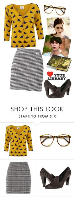 """a good time to find that banned book"" by elliewriter ❤ liked on Polyvore featuring Yumi, Proenza Schouler, Stuart Weitzman and Hudson Jeans"